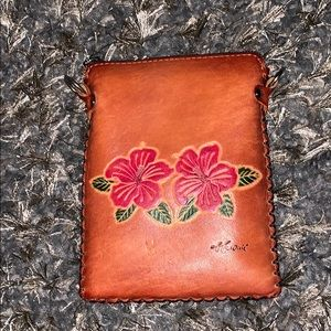 Cute leather pouch from Hawaii